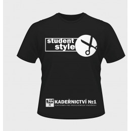 T - shirt black Student Style Hairdressing No1 - S