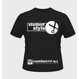 Tričko černé Student Style Kadeřnictví No1